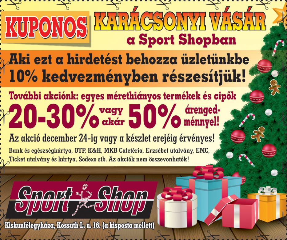 1b2a25b60f98 Sport Shop | Cégregiszter | infoKiskunfélegyháza